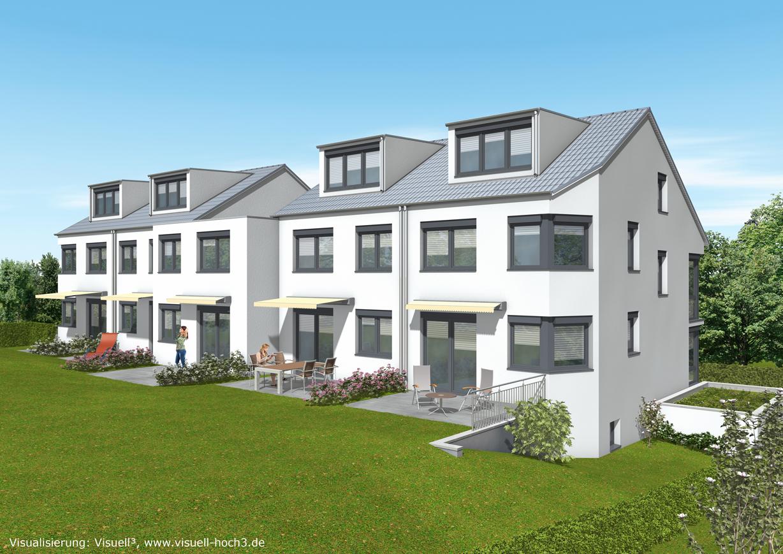 f nf kfw 70 reihenh user in split level bauweise architekturb ro karl eisenbraun ostfildern. Black Bedroom Furniture Sets. Home Design Ideas