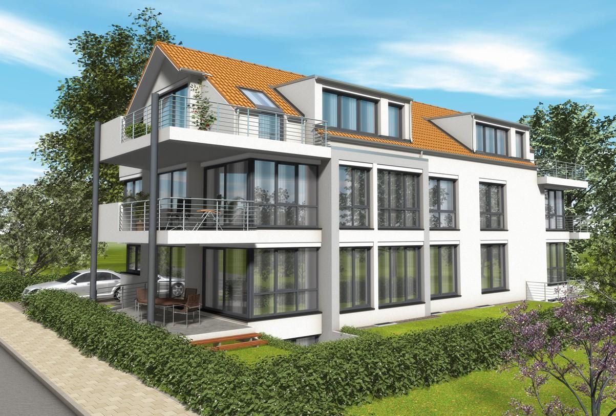 Visualisierung 5-Familienhaus mit Erdwärmeheizung