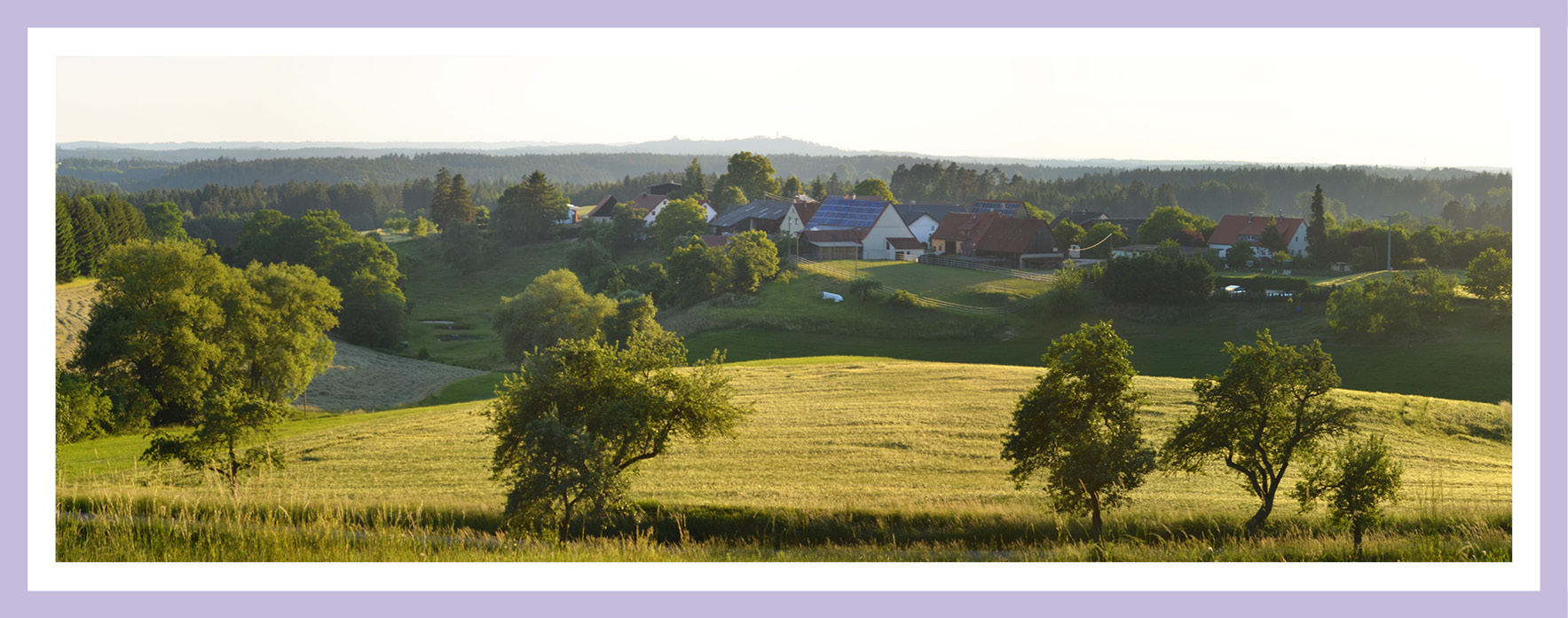 Großstadt oder Land: Blick auf ein Weiler im Ostalbkreis