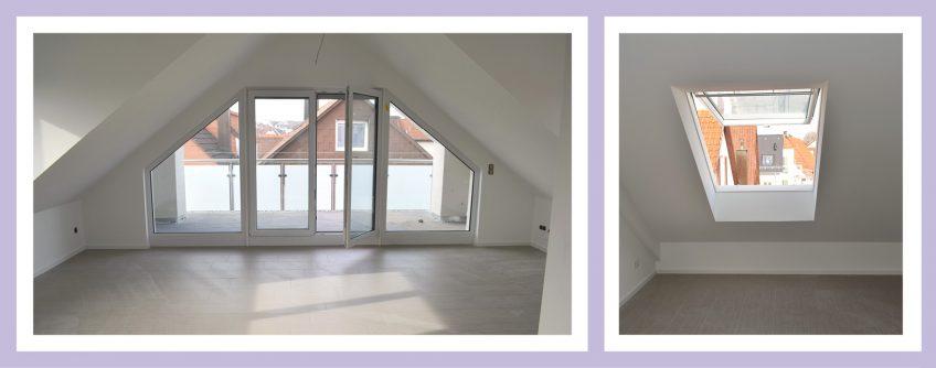 Bilder Einer Bezugsfertigen Dachgeschosswohnung.