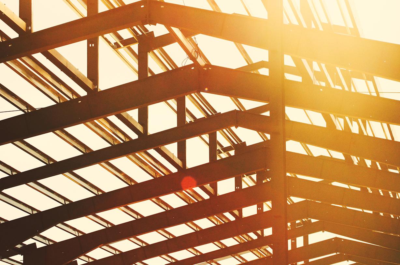 Stahlkonstruktion eines Gebäudes