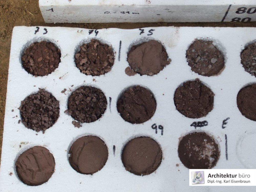 Gesteinsproben aus einer Geothermiebohrung