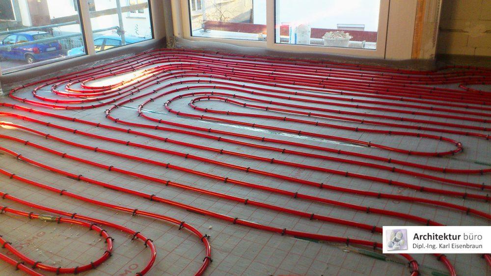 Einbau einer Fußbodenheizung