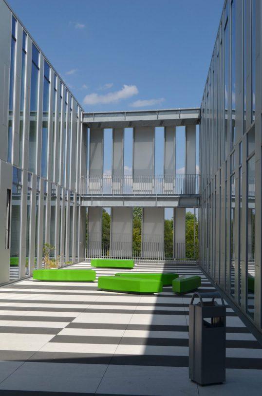 Innenhof Neubau Hochschule der Medien, Bild vom Tag der Architektur 2017