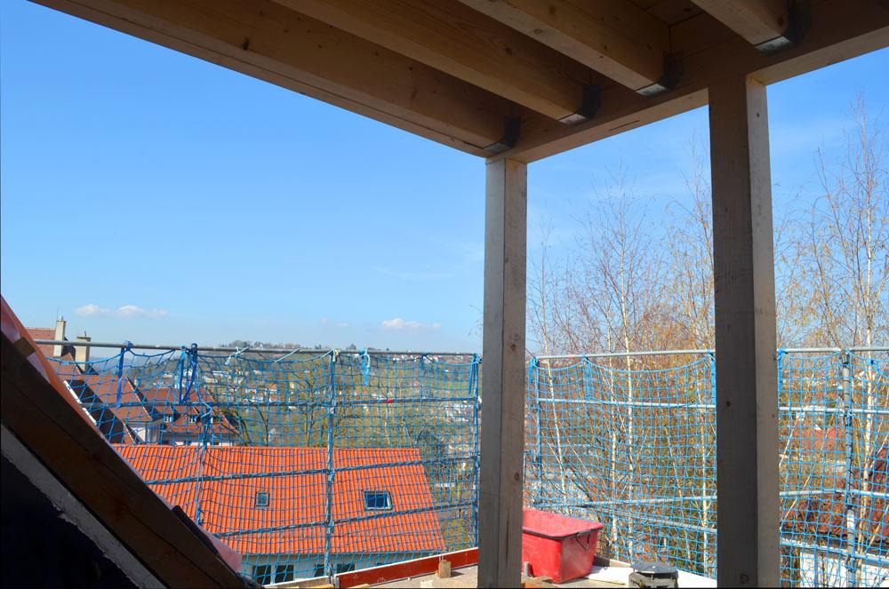 Dachausbau mit einer Dachgaube