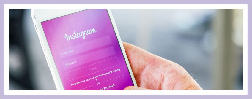 Bild eines Smartphones auf dem der Anmeldebildschirm von Instagram geöffnet ist