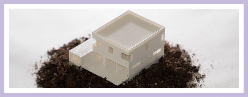 Architekturmodell Aus Dem 3D-Drucker