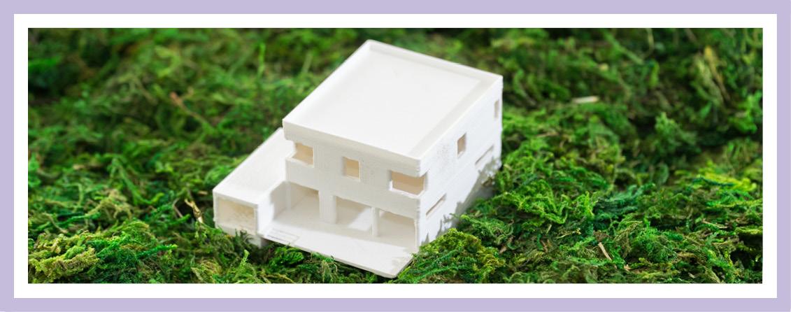 Architekturmodell Mit Dem 3D-Drucker