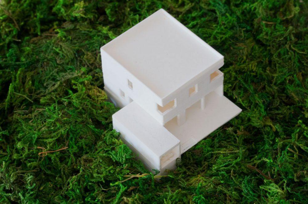 3D-Architekturmodell aus dem 3D-Drucker