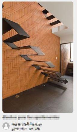 Pinterest Pin: Metalltreppe ohne Geländer