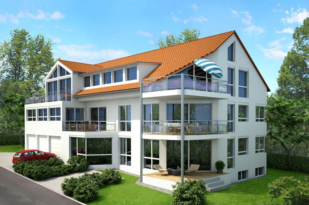 In Bauherrengemeinschaft: 6-Familienhaus mit zwei Luft-Wasser-Wärmepumpen