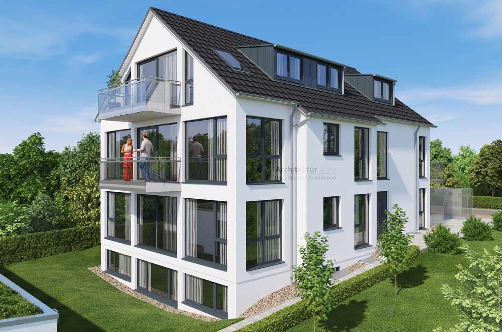 4-Familienhaus mit barrierefreier EG-Wohnung